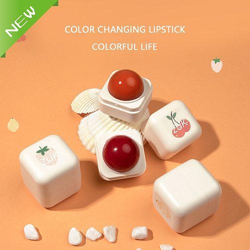 Allochroic Lip Gloss Moisturizer Fruity Women Makeup Liquid Discoloration Lipstick Lip Gloss Red lips Cosmetic Long Lasting Liqu