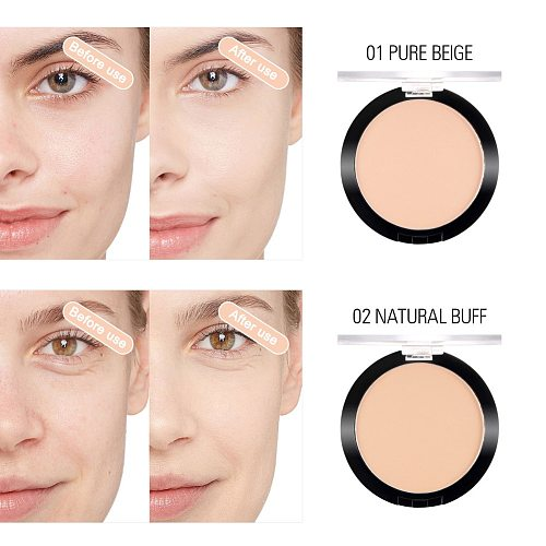 New Smooth Control Oil Waterproof Long-lasting Makeup Matte Soft Pressed Powder Foundation SCI88