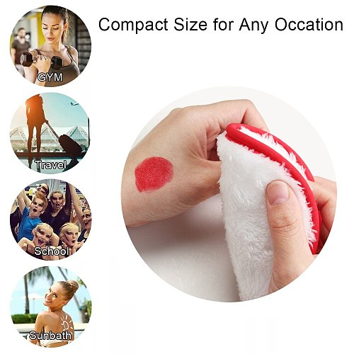 4pcs Reusable Microfiber Cloth Pad Facial Makeup Remover Puff Cleansing Towel Beauty gabki do mycia Cosmetic Tool Cleansing Pads