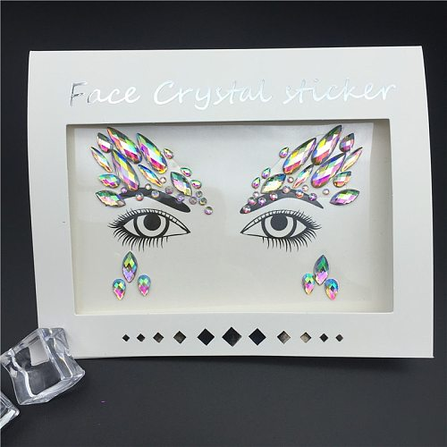 Temporary Rhinestone Glitter Tattoo Stickers Face Jewels Gems Festival Party Makeup Body Jewels Flash Beauty Makeup Tools