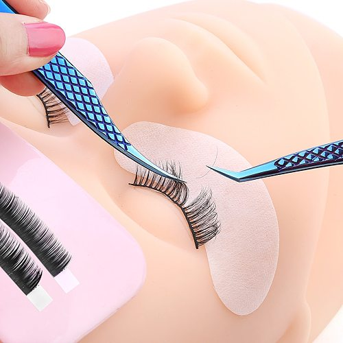 Professional Eyelashes Tweezers For Lashes Extension Nipper Stainless Steel High Precision Eyelash Extension Eyebrow Tweezers