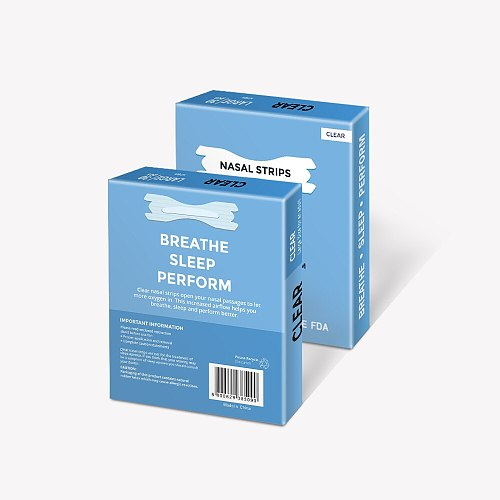 3000PCS=100boxes ( 66X19MM)Stoping snoring and improving breathe smoothly nose patch adult Anti-snore nasal strips