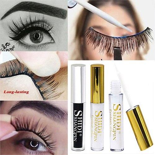 False Eyelash Glue Waterproof False Eyelash Extension Long Lasting Quick-drying Eyelash Glue 5ml White Glue Black Glue Eyelid