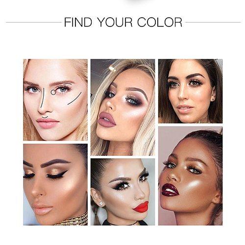 9 Colors Makeup Highlighter Illuminator Contouring Makeup Face Brightener Concealer Liquid Highlighter Primer Bronzer Face Glow