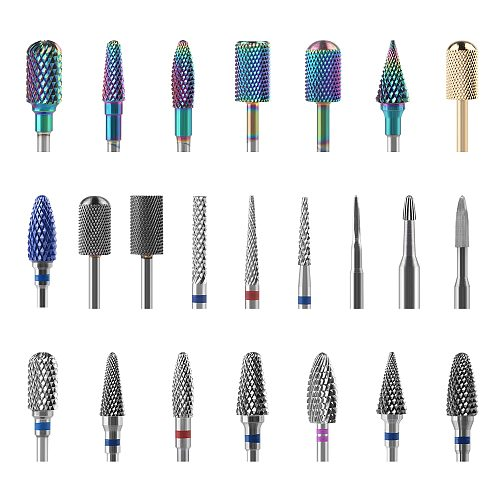 Tungsten Carbide Burr Milling Cutter For Manicure Machine Carbide Electric Nail Drill Milling Cutter For Nail Files Accessories