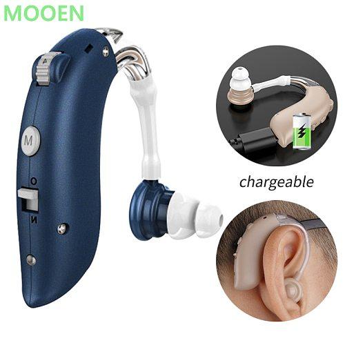 Bluetooth Cheap Rechargeable Hearing Aid Mini Device Ear Amplifier Digital Hearing Aids BTE Elderly Ear Care Hearing Amplifier