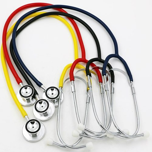 Portable Dual Head Stethoscope Doctor Medical Stethoscope Professional Cardiology Medical Equipment Device Student Vet Nurse