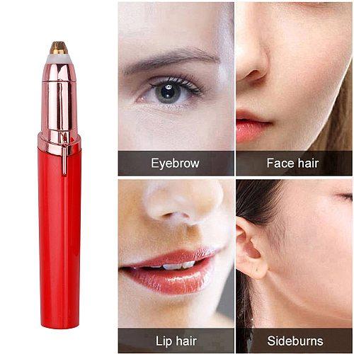 Mini Electric Eyebrow Trimmer Pen Eyebrow Epilator Painless Eye Brow Razor Hair Remover for Women Portable Makeup Tool