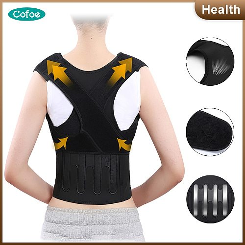 Cofoe Posture correction belt Anti-hunchback back support shoulder waist posture correction for man and female