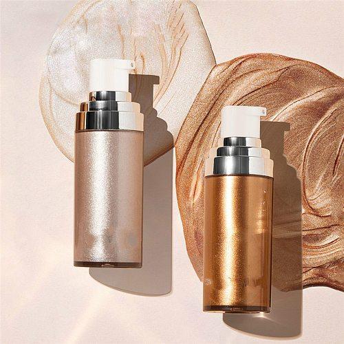 Bronzer Highlighter Liquid Setting Spray Illuminating Face Shimmer Long-lasting Brighten Glow Face Glow Highlighter Makeup Face