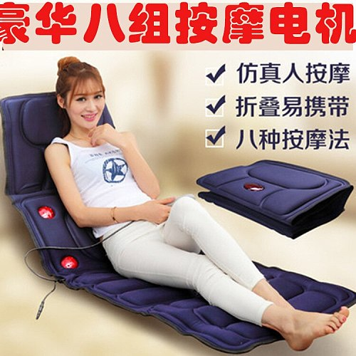 New upgrade 9 mode electric vibrating massager mattress far infrared heating therapy neck back massage relaxation bed health car