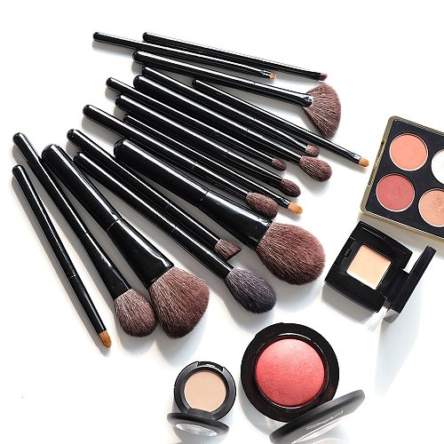 OVW 28pcs Set Professional Cosmetic Makeup Brushes Natural Goat Hair Horse Synthetic Weasel Mix Brush Kit Tools Face Eye Make up