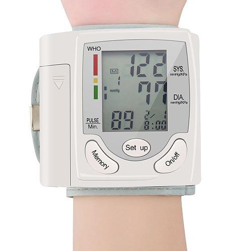 Automatic Wrist Blood Pressure Monitor Tonometer Meter Digital LCD Screen Portable Health Care Sphygmomanometer Worldwide Sale