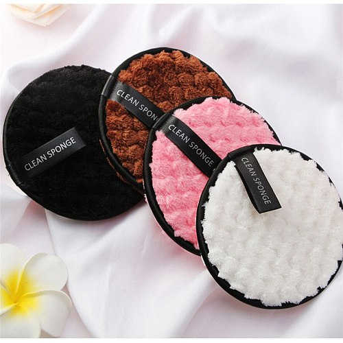 Face Makeup Cleaning Remover Puff 4pc MAANGE Makeup Remover Towel Face Cleaning Cloth Pads Plush Puff Fashion J16#40