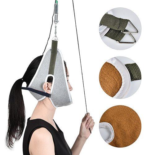 Over Door Hanging Neck Traction Kit Cushion Stretching Belt Brace Adjustable Cervical Correction Stretcher Pain Relief