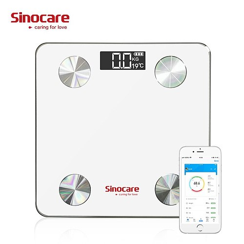 Medical Sinocare Smart Body Fat Scale Monitor Bluetooth Floor Monitor Medical-devices balance connecte for  dieted   & fit
