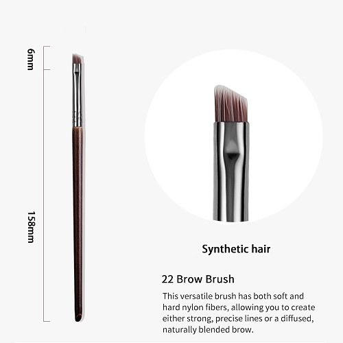 OVW Firm Detail Makeup Brush Angled Eyebrow Brush 1 Piece Nylon Hair Bevel Liquid Powder Cosmetics Tools pinceau maquillage