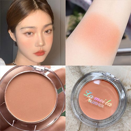 6 Colors Single Blush Palette Face Cream Concealer Foundation Powder Waterproof Lasting Face Rouge Powder Natural Peach Blusher