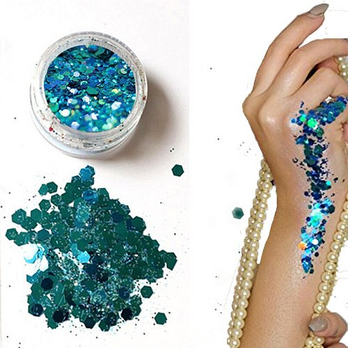 2020 Hybrid Sequins Glitter Round Colorful Glitter Pots Nail Face body Shadow Glitter Beauty Makeup Shinning Glitter Powder