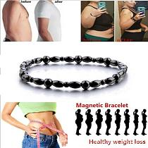 Black Anklet Slimming Bracelet For Weight Loss Gallstone Hematite Chain Stimulating Acupoints Anti-Cellulite Magnetic Therapy