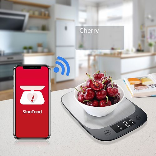 Digital Scales 5kg 10kg 1g Weights Scale Stainless Steel Electronic Balance Measure Tools LED Display Kitchen Scale Libra