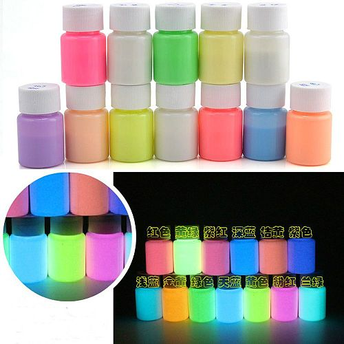 20g Colorful Luminous Paint Acrylic Tattoos Pigment Glow In The Dark Bright Cool Party Body Decoration Gouache  DIY Craft