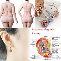 Magnetic Therapy Slimming Earrings Bracelets Rings Lose Weight Body Relaxation Massage Slim Ear Studs Patch Health Jewelry