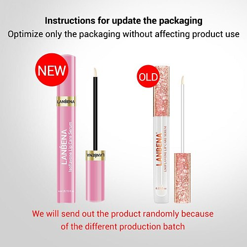 LANBENA Lip Plumper Serum Lip Mask Reduce Fine Lines Increase Lip Elasticity Resist Aging Moisturing Lip Care Drop Shipping