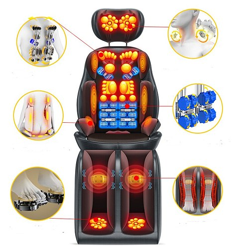 Lying and sitting neck massage full package hot compress relaxation treatments multi- functional car kneading chair cushion