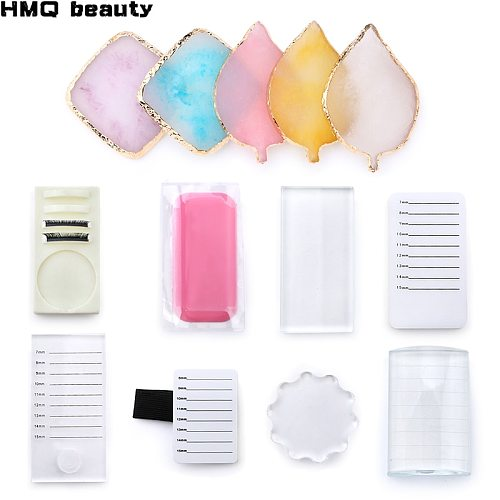 Collection Acrylic False Eyelashes Stand Pad Pallet Lashes Holder with Tick Mark Fake Lashes Extension Essential Tool