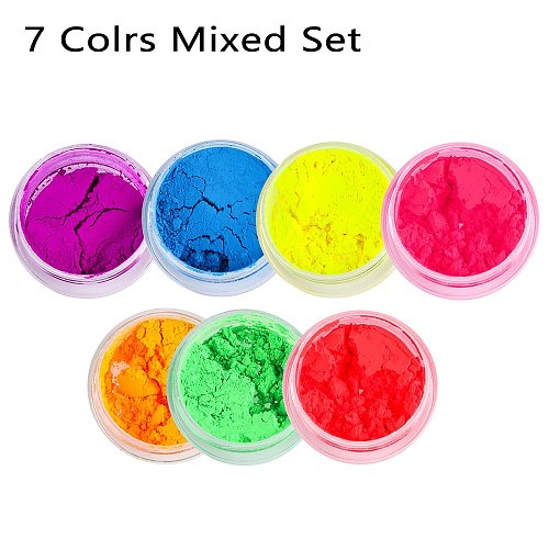 1PC Neon Loose Powder Eyeshadow Pigment Matte Mineral Spangle Nail Powder Shimmer Shiny Colorful Eyeshadow Woman Beauty Cosmetic