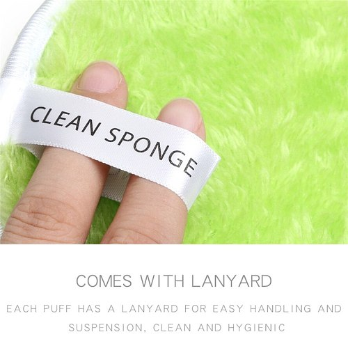 New 4PCS MAANGE Makeup Remover Towel High Quality Face Cleansing Cloth Pads Plush Puff Fashion Makeup Remover Puff 0711#30