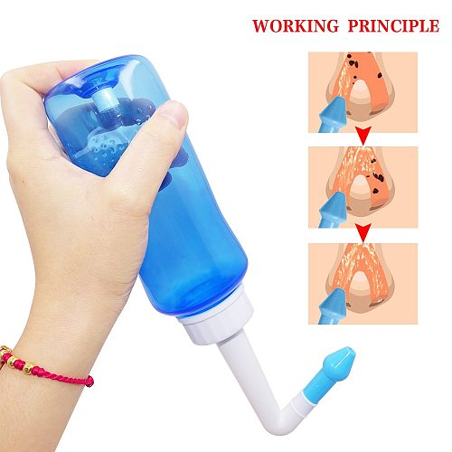 Shipped From USA NEW Nose Wash System Sinus & Allergies Relief Nasal Pressure Rinse Neti Pot Nose Health Care Dropshipping