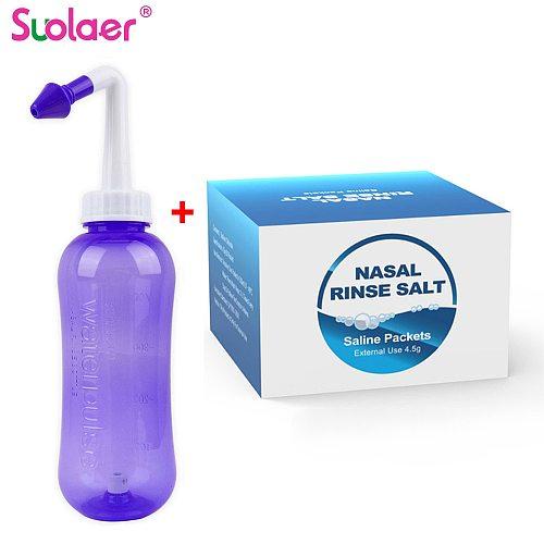 500ml Nose Clean Nose Wash Nasal Cavity Cleaner Nose Cleaning Salts Sinusitis Sensitivity Avoid Allergic Rhinitis Neti Pot 4.5g