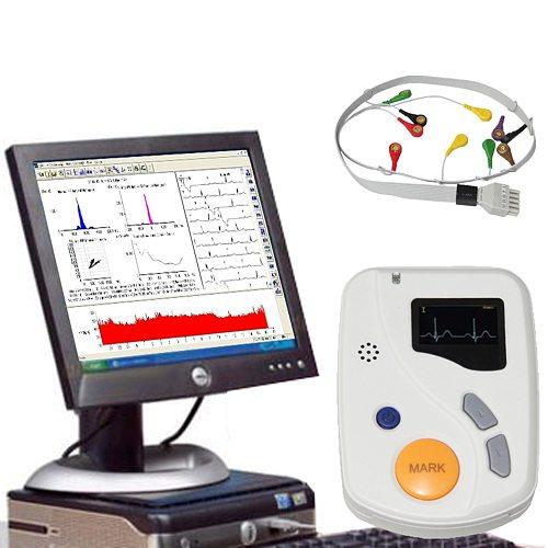 Portable 48 Hour Dynamic EKG Holter Handheld 12 Channel ECG Monitor Recorder Analyzer Software TLC6000 usb pc sw