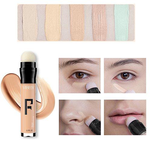 New Waterproof Nude Concealer Pen Makeup Primer Cover Pore Dark Circle Whitening Base Foundation Concealer Cream Maquiagem