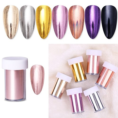 1 Roll  Rose Gold Nail Foils Sticker sparkly Sky Glitter Nail Art Transfer Stickers Paper DIY Tips Decoration