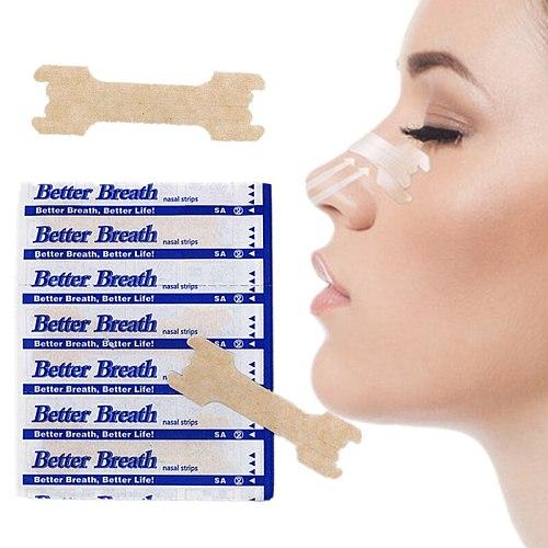 1000pcs/lot (55x16mm) Hot Sale Tan Anti Snoring Sleep Breath Better Nose Strips Help Breathe Well