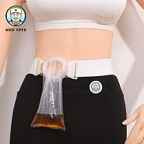 Disposable Plastic Ostomy Bags With Adjustable Belt and Soft Silicone Ring 35mm Buckle for Day Use very cheap