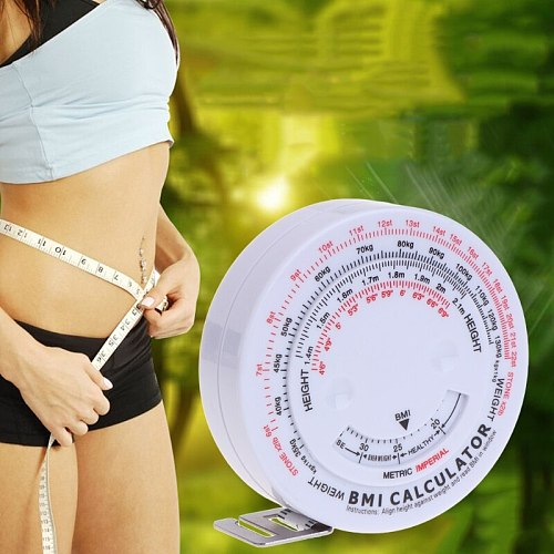 Body Mass Retractable Tape 150cm Measure Calculator Diet Weight Loss Tape Health Care Household Health Monitors New
