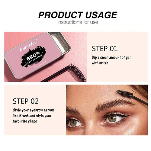 Eyebrow Soap Wax Fluffy Feathery Eyebrows Pomade Gel For Eyebrow Styling Lasting Makeup Soap Brow Sculpt Lift Cosmetics TSLM1