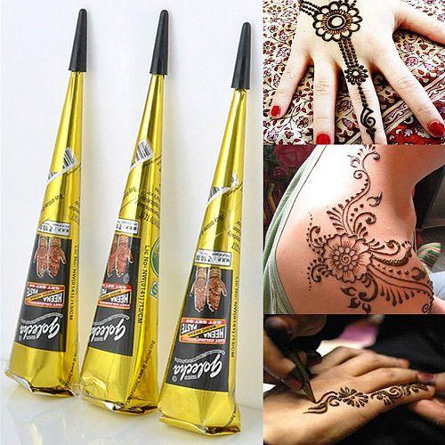 Indian Henna Tattoo Paste Cone Body Paint Temporary Mehndi Henna Tattoo body art Sticker Mehndi Body Paint