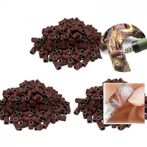 100Pcs Nail Drill Bit Sanding Caps Cutters For Pedicure Manicure Electric Remove Calluses Replacement Sander Nail Cleaning Tool