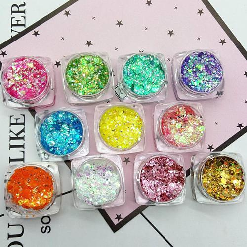 19 Colors Diamond Sequins Eyeshadow Palette Mermaid Sequins Gel Nail Art Make Up Festival Party Makeup Cosmetics Makeup TSLM1