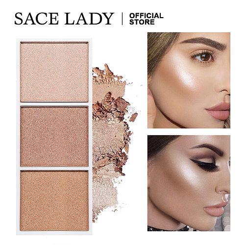 SACE LADY Highlighter Palette Makeup Contour Powder Matte Face Bronzer Make Up Pallete Cosmetics Wholesale