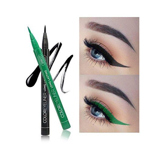 12 Color Eyeliner Liquid Waterproof Easy To Wear Make Up Matte Eye Liner Blue Red Green White Gold Brown Eyliner