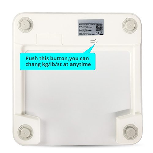 Sinocare Body Fat Scale Bluetooth floor Body Fat Monitor  Body Fat Water Muscle Mass BMI Health LED Display Bathroom