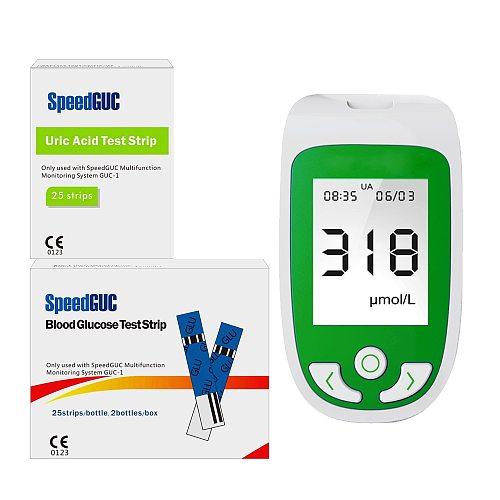 Uric acid Test Strips blood glucose Test Strips and Lancets Diabetes Gout Device Test