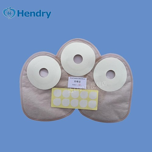 10 pcs Hendry disposable anal bag closed pocket paste rectal ostomy stool bag 25mm