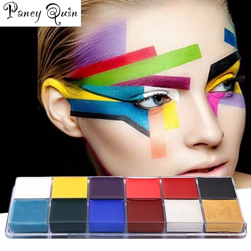 Painting wholesale Flash Tattoo Face Body Paint Oil Painting Pigment Art Theme Party Halloween Fancy Dress Party Make Up Tool